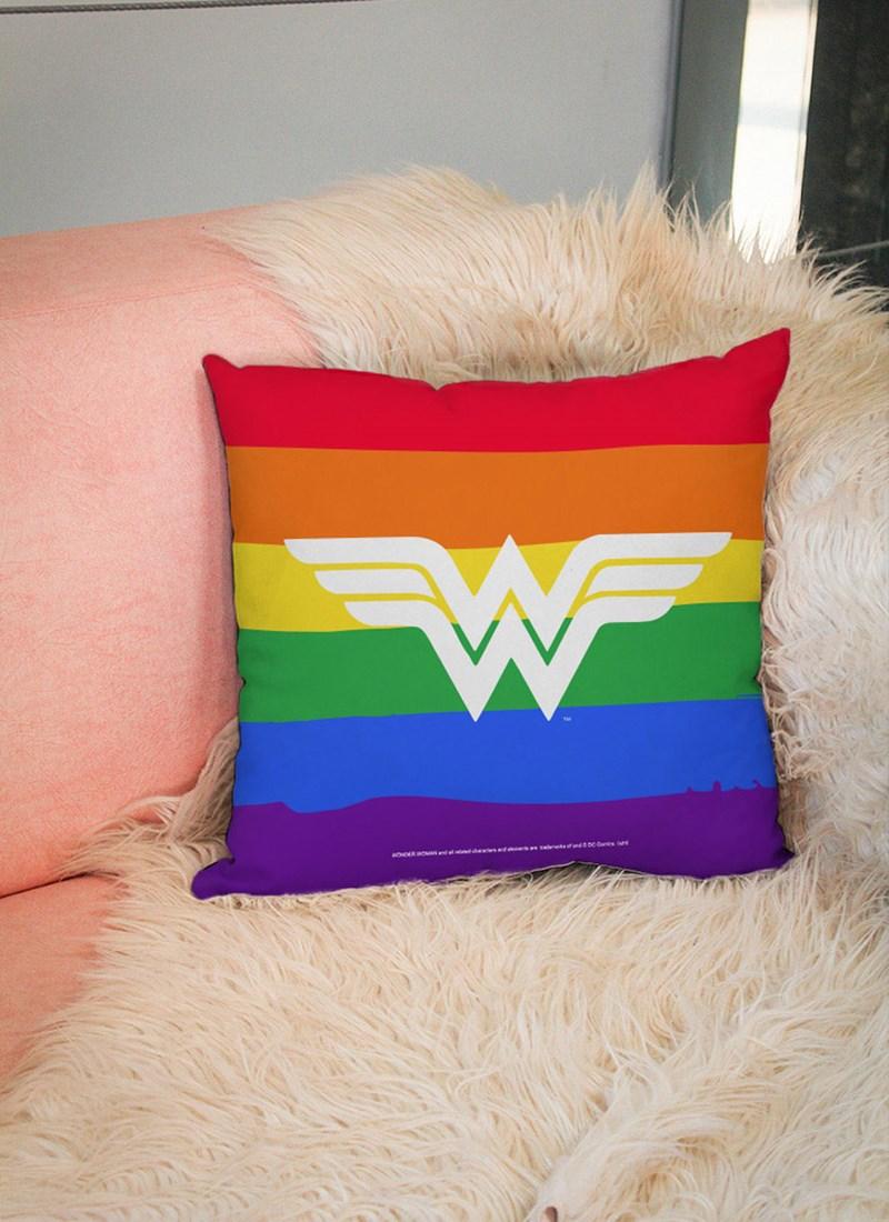 Almofada Mulher Maravilha Logo Colors