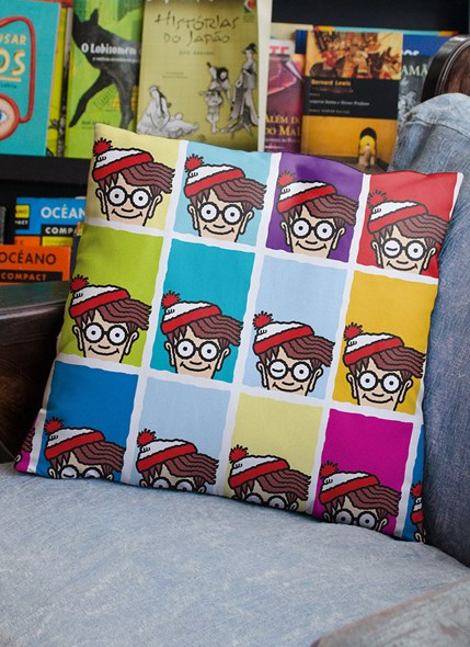 Almofada Onde está Wally? Pop Colors
