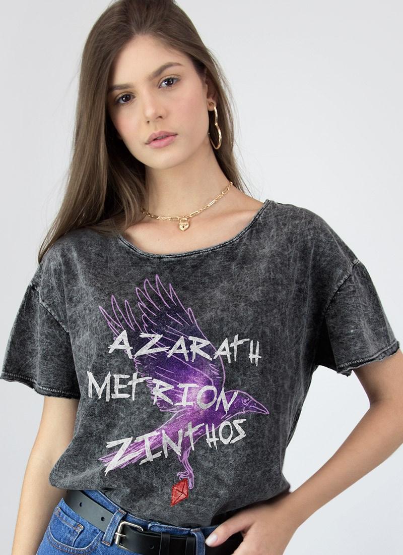 Camiseta Ampla Jovens Titãs Ravena Azarath Metrion Zinthos