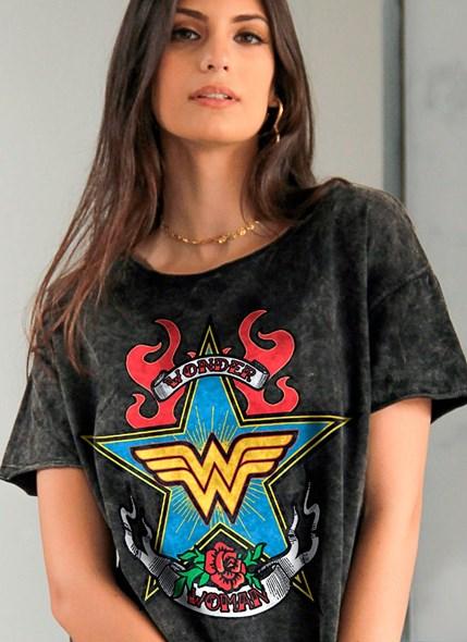 Camiseta Ampla Mulher Maravilha Old School