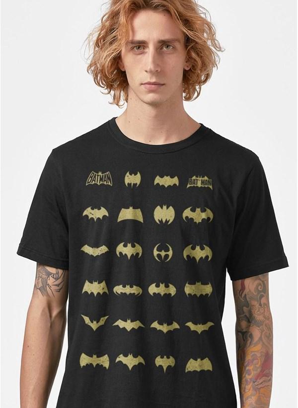 Camiseta Batman Logos Collection
