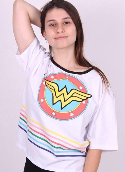 Camiseta Box Mulher Marvilha Logo Retrô