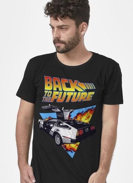 Camiseta De Volta para o Futuro Delorean Fire