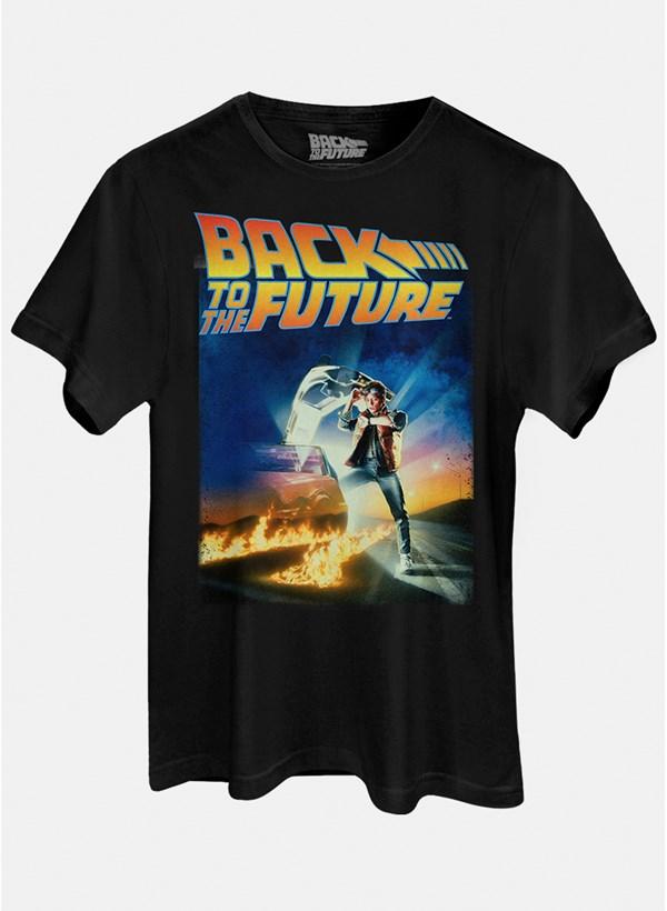 Camiseta De Volta para o Futuro Pôster