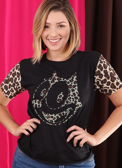 Camiseta Gato Félix Animal Print