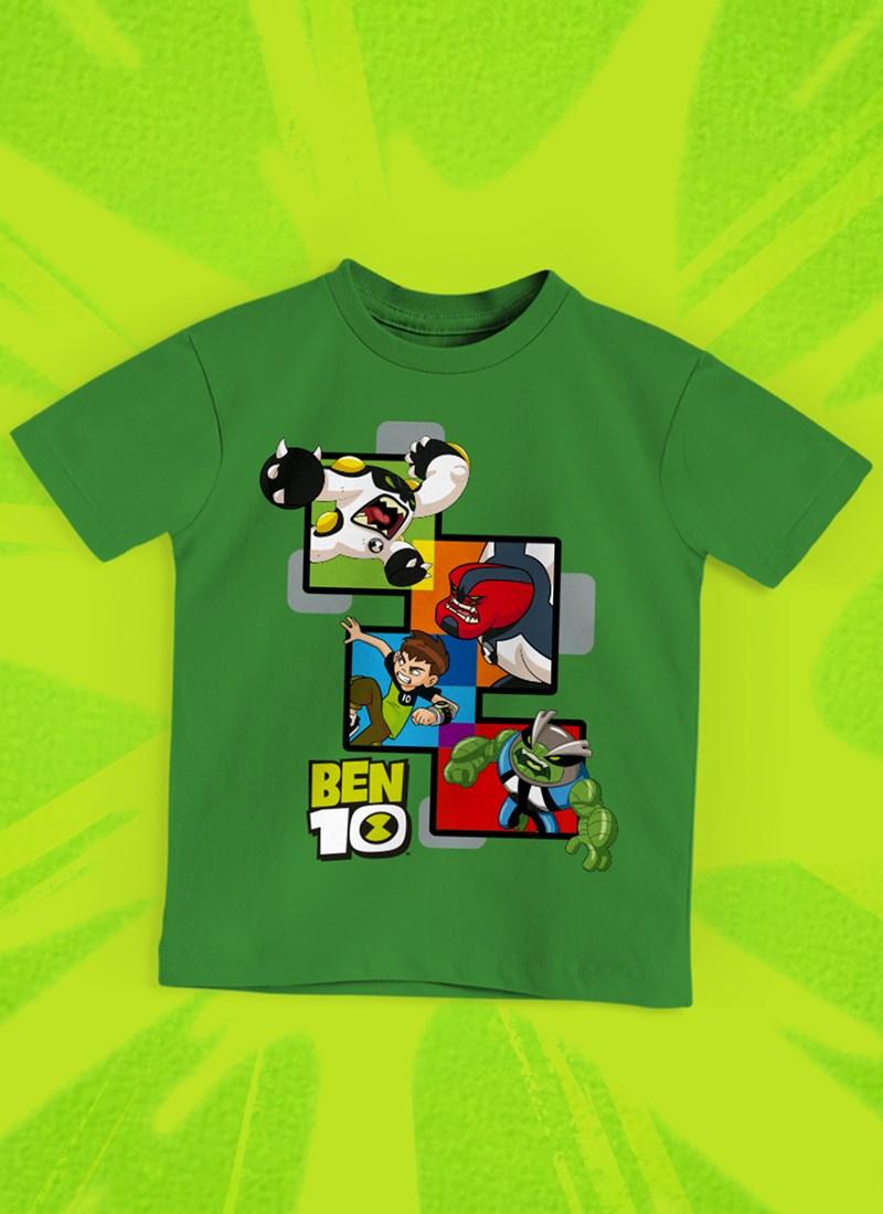 Camiseta Infantil Ben 10 Aliens