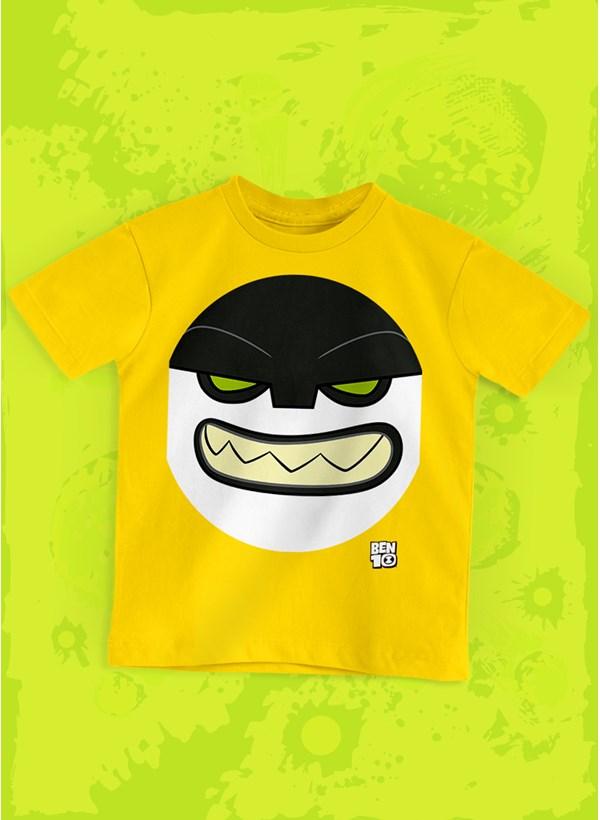 Camiseta Infantil Ben 10 Bala de Canhão Face