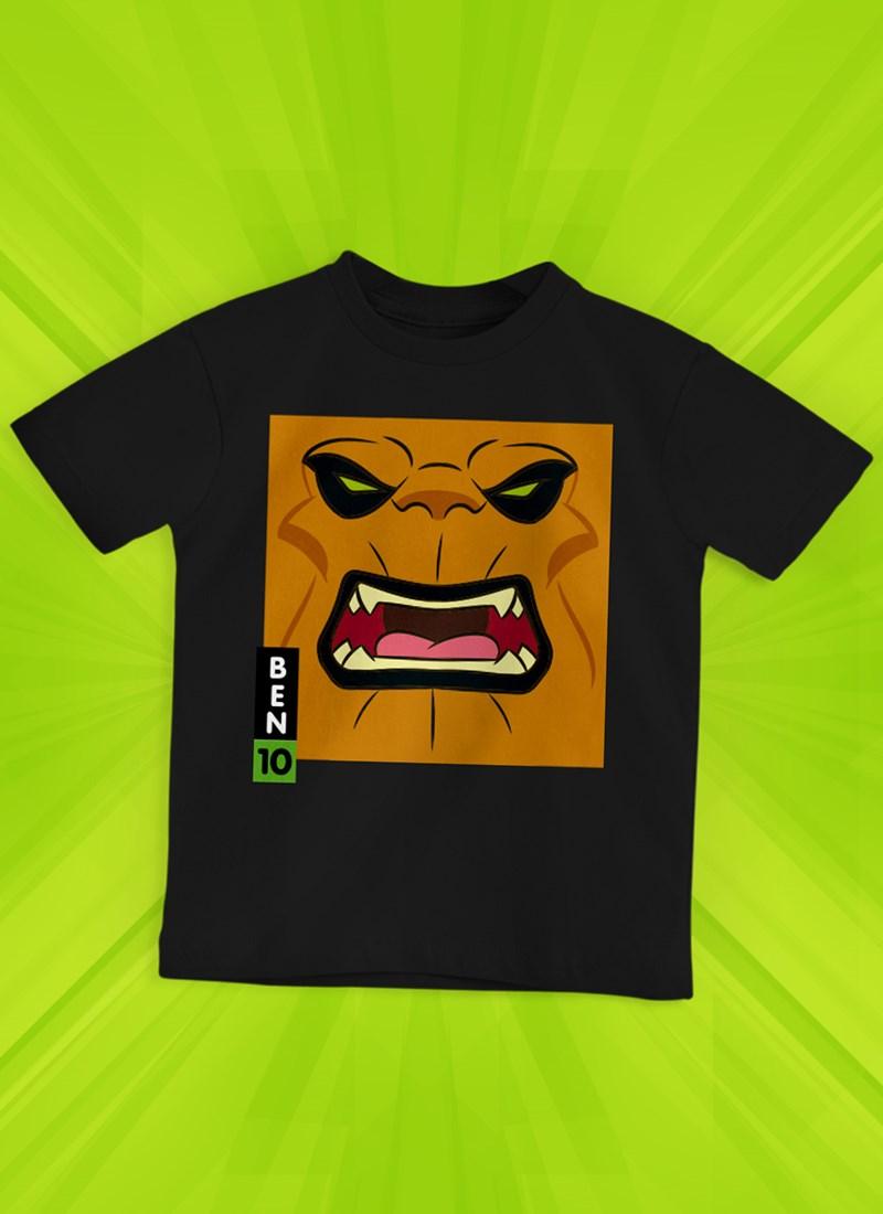 Camiseta Infantil Ben 10 Enermossauro Face