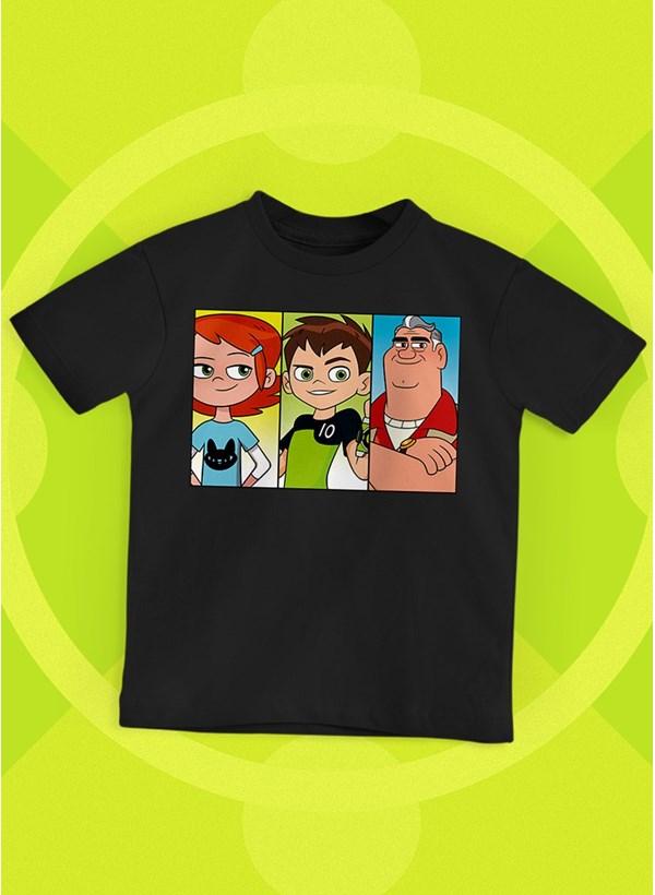 Camiseta Infantil Ben 10 Equipe