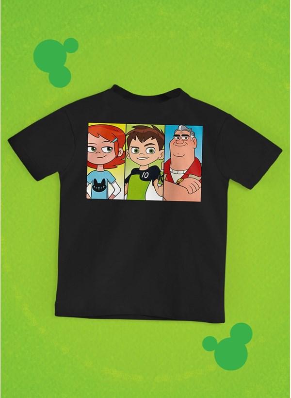 Camiseta Infantil Ben 10 Equipe Omnitrix