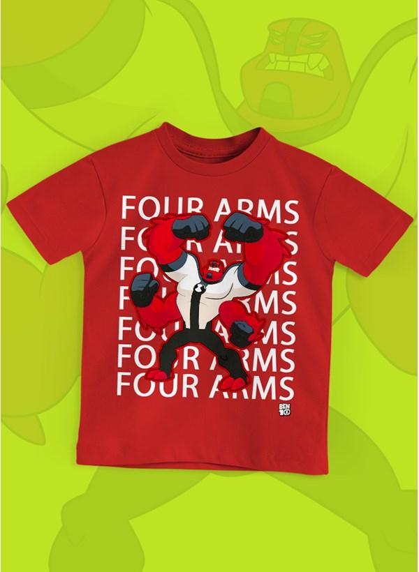 Camiseta Infantil Ben 10 Quatro Braços