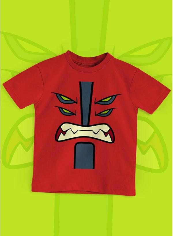Camiseta Infantil Ben 10 Quatro Braços Face