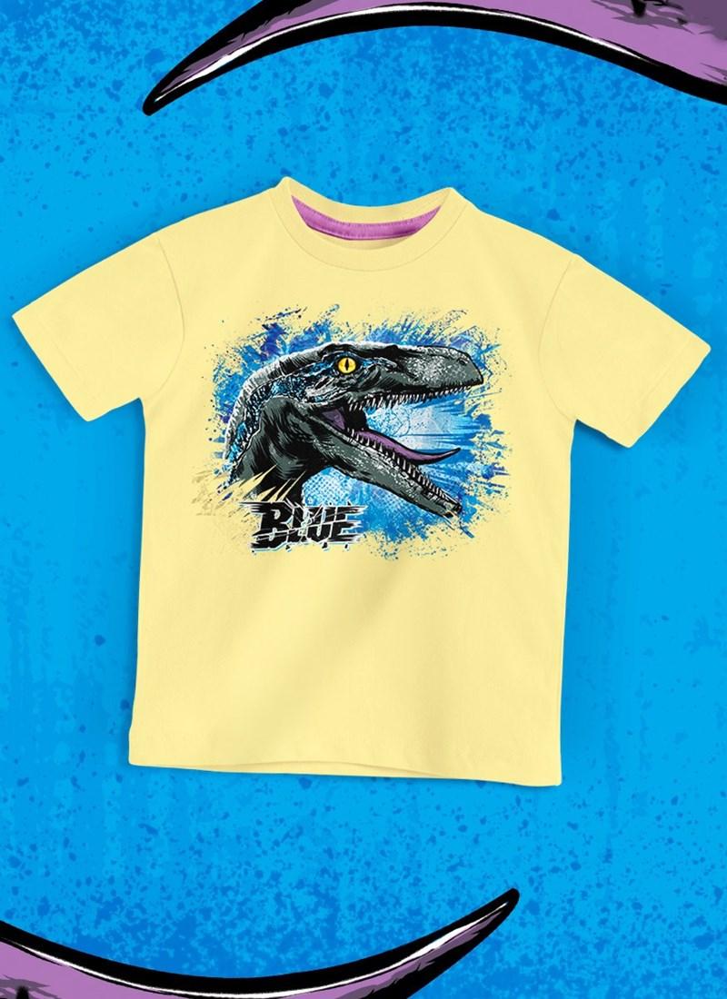 Camiseta Infantil Jurassic World Blue