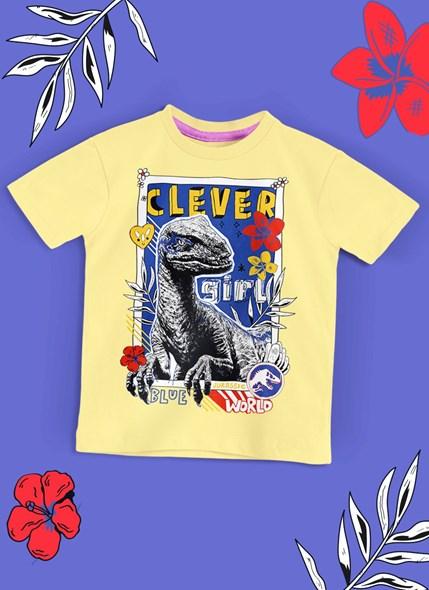 Camiseta Infantil Jurassic World Clever Girl