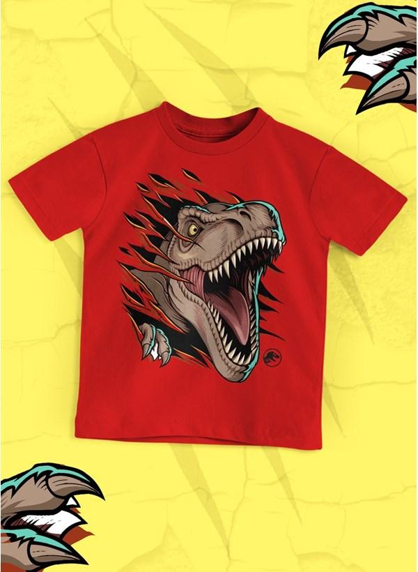 Camiseta Infantil Jurassic World T.Rex