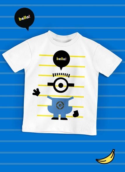 Camiseta Infantil Minions Hello
