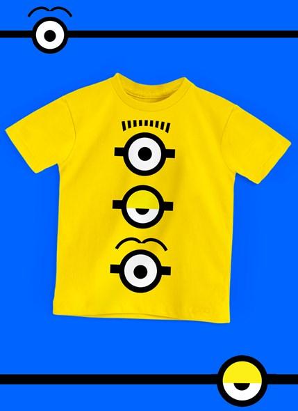 Camiseta Infantil Minions Olhinhos