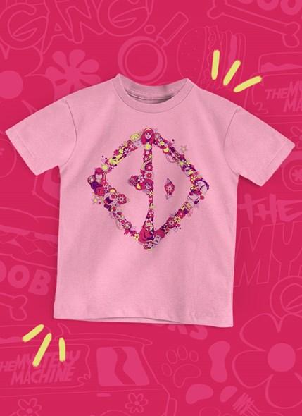 Camiseta Infantil Scooby! Logo Flores