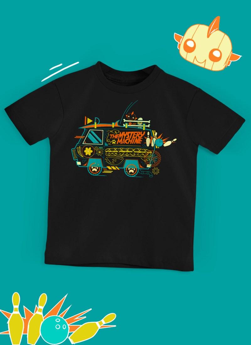 Camiseta Infantil Scooby! Maquina de Mistério Linhas