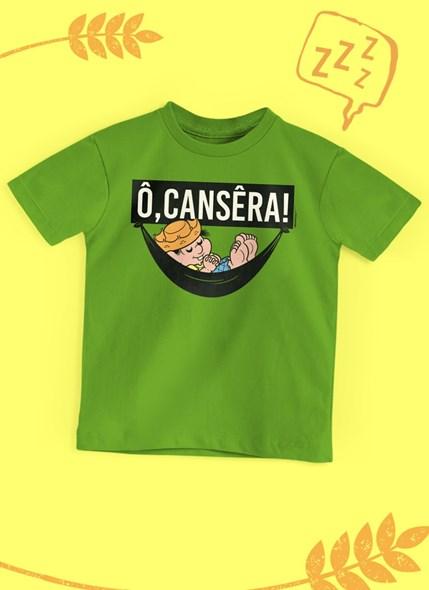 Camiseta Infantil Turma da Mônica Chico Bento Ô, Cansêra