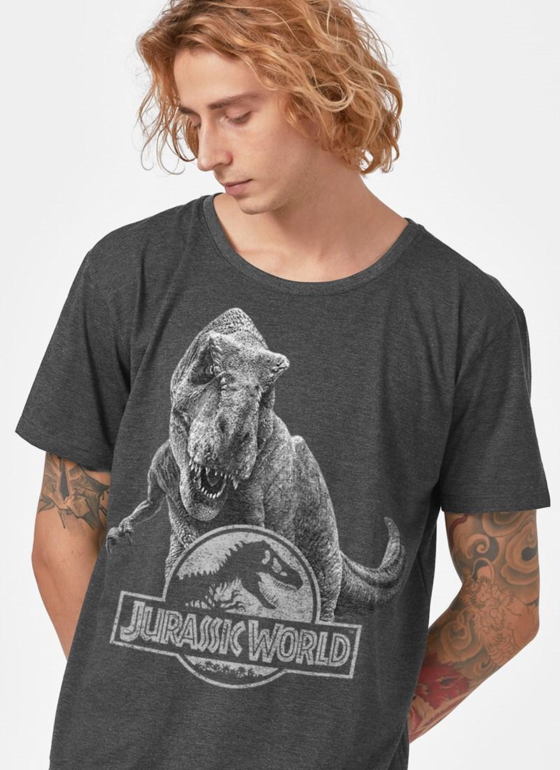 Camiseta Jurassic World T.Rex P&B