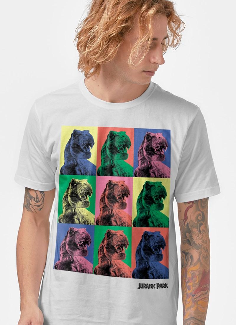 Camiseta Jurassic World T.Rex Pop Art