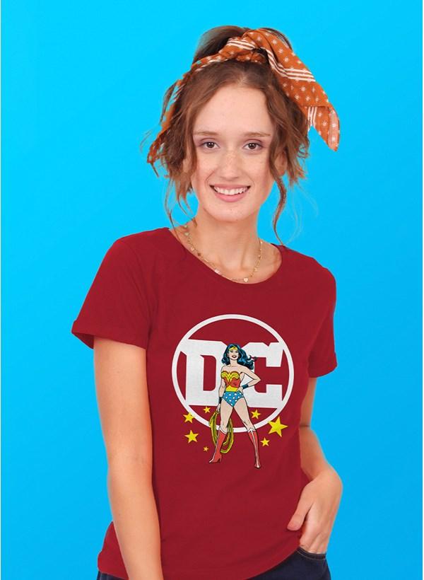 Camiseta Logo DC Mulher Maravilha
