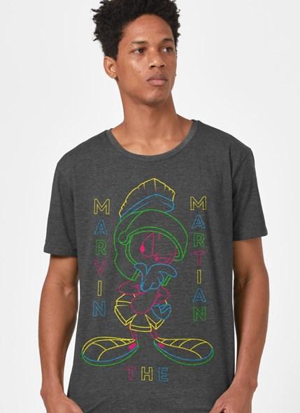 Camiseta Looney Tunes Marvin Neon