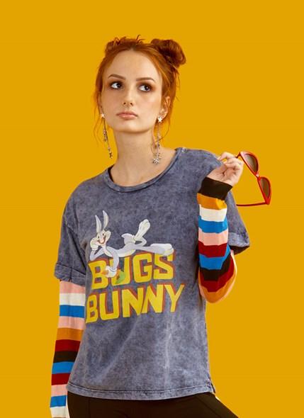Camiseta Marmorizada Looney Tunes Don't Touch My Carrot