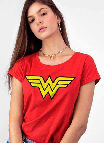 Camiseta Mulher Maravilha Logo