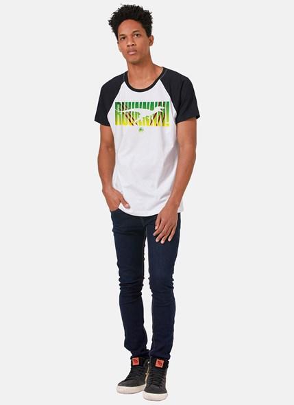 Camiseta Raglan Jurassic World RUUUN!