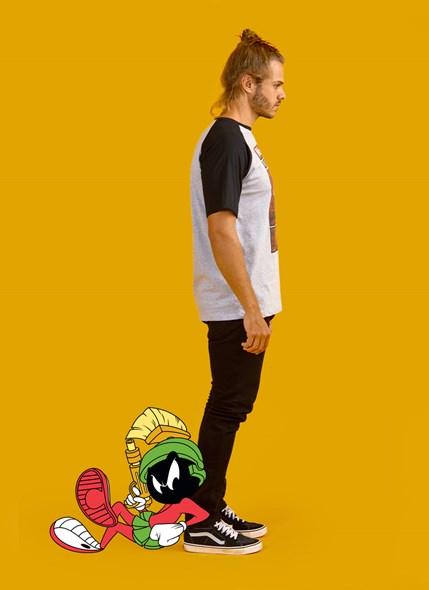 Camiseta Raglan Looney Tunes Friend or Foe?