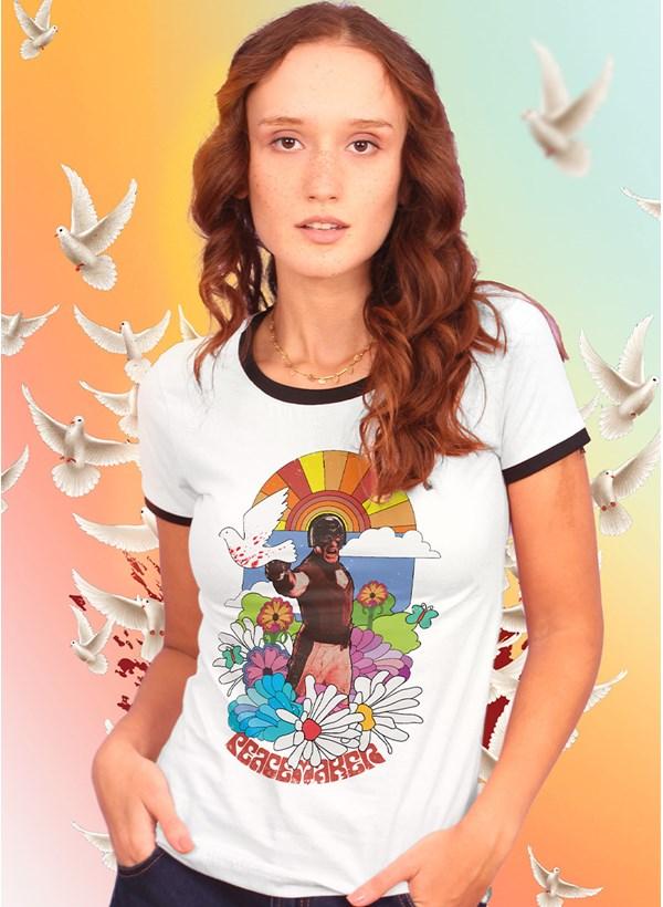 Camiseta Ringer Esquadrão Suicida Peace