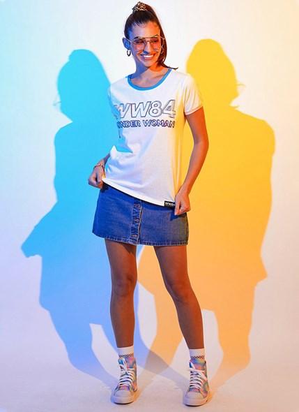 Camiseta Ringer Mulher Maravilha WW84