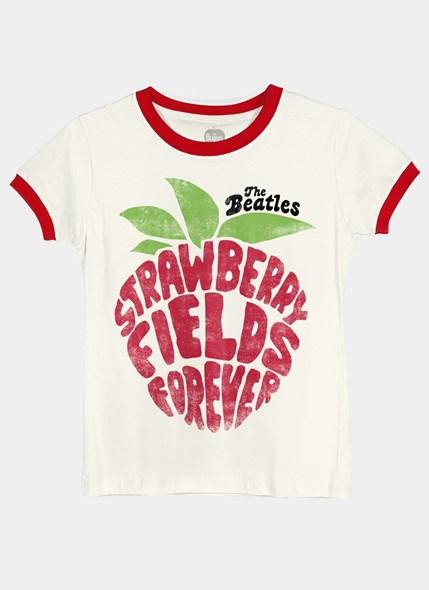 Camiseta Ringer The Beatles Strawberry Fields Forever