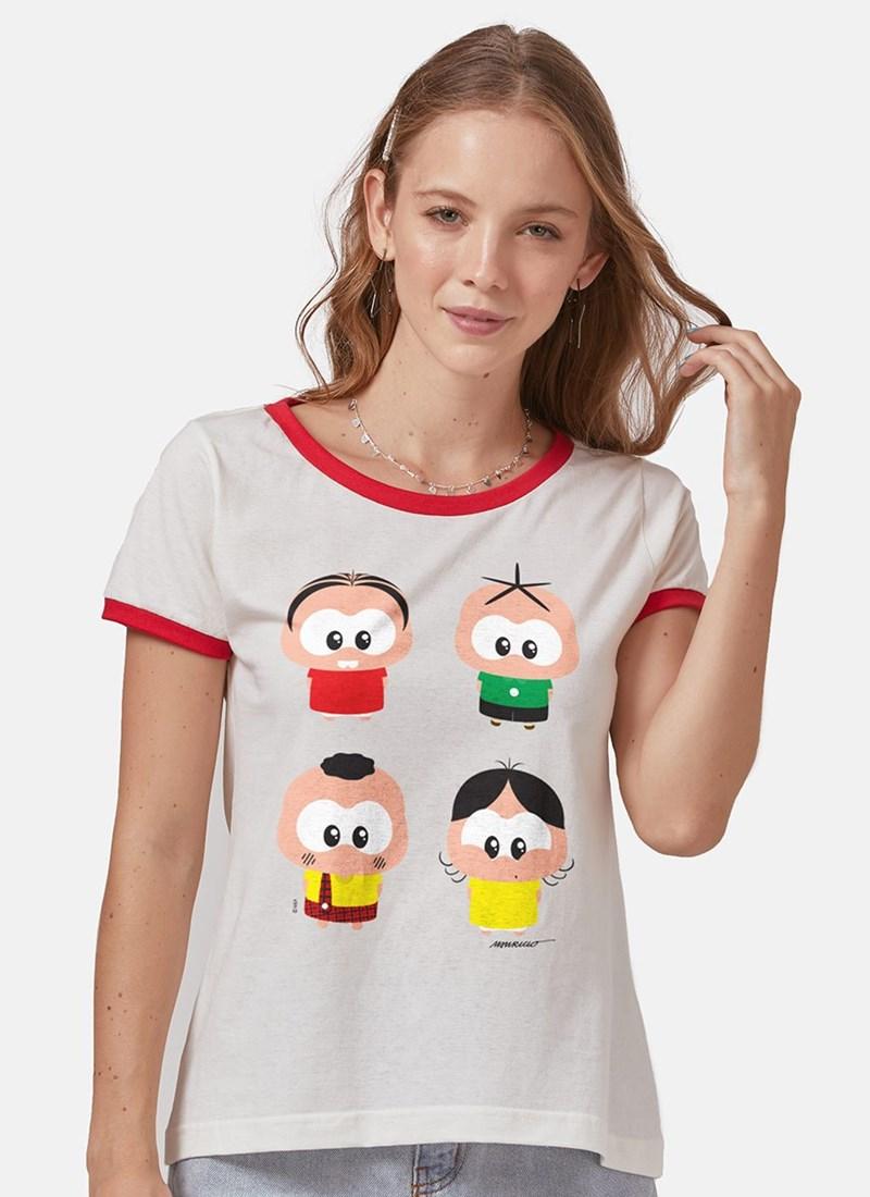 Camiseta Ringer Turma da Mônica A Turma Toy