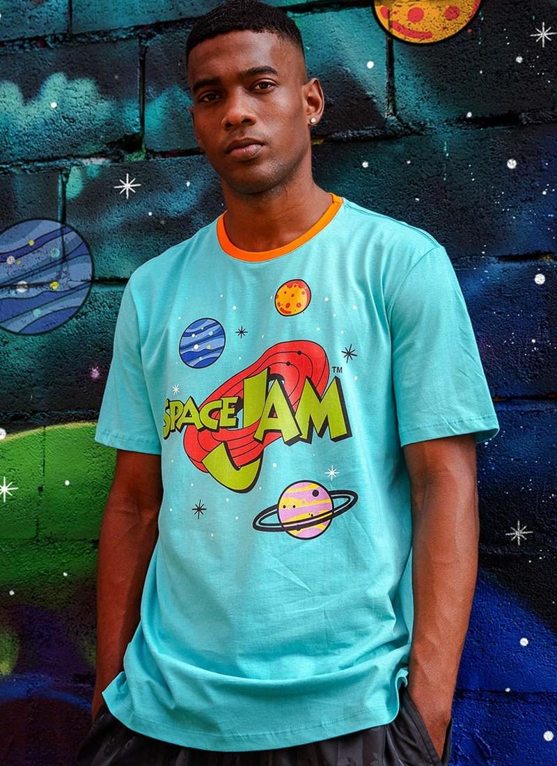 Camiseta Space Jam Planetas