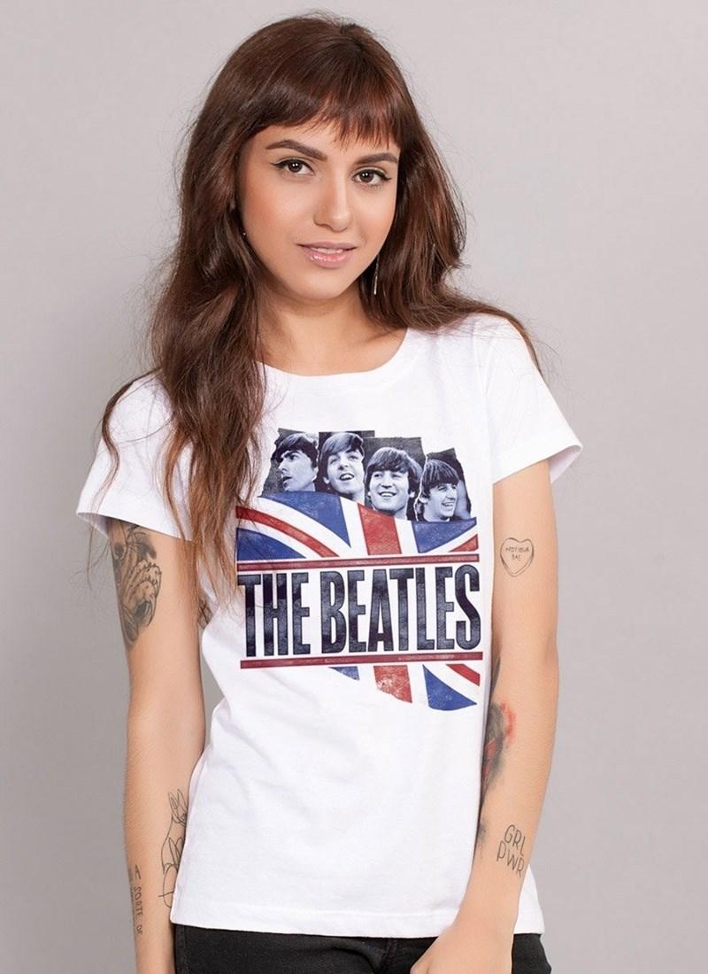 Camiseta The Beatles England Flag