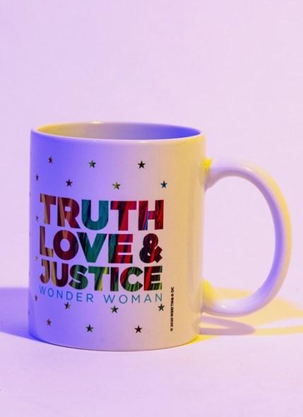 Caneca Mulher Maravilha 1984 Truth Love & Justice Stars