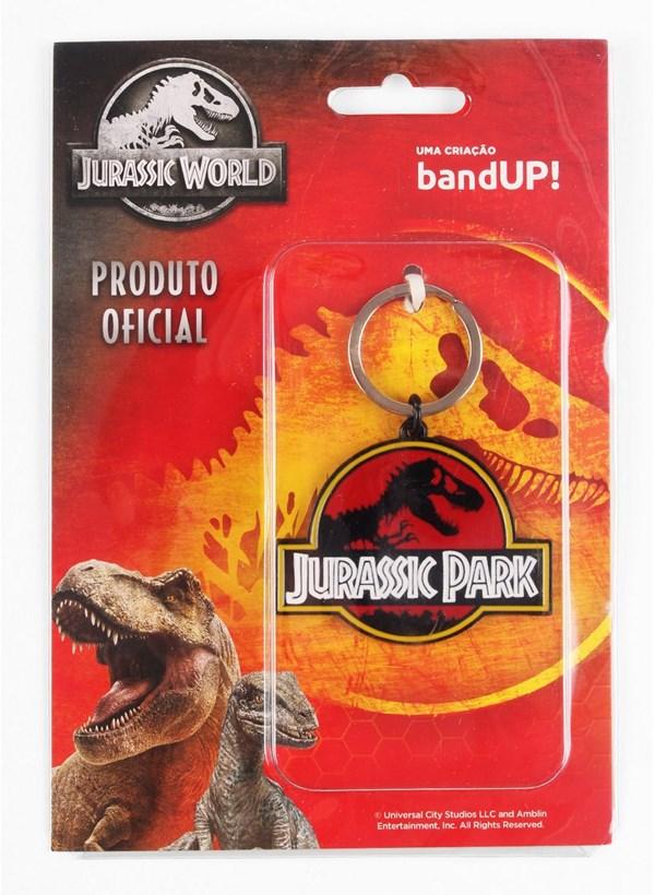 Chaveiro de Metal Jurassic Park Logo