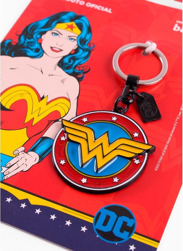 Chaveiro de Metal Mulher Maravilha Logo Retrô