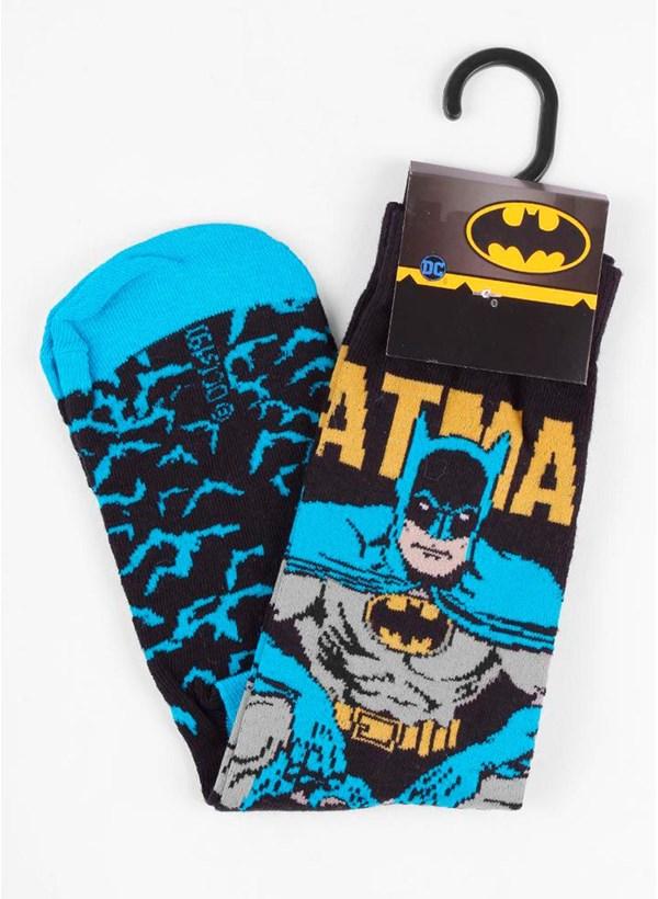 Kit com 4 Meias Cano Alto Batman VS Coringa