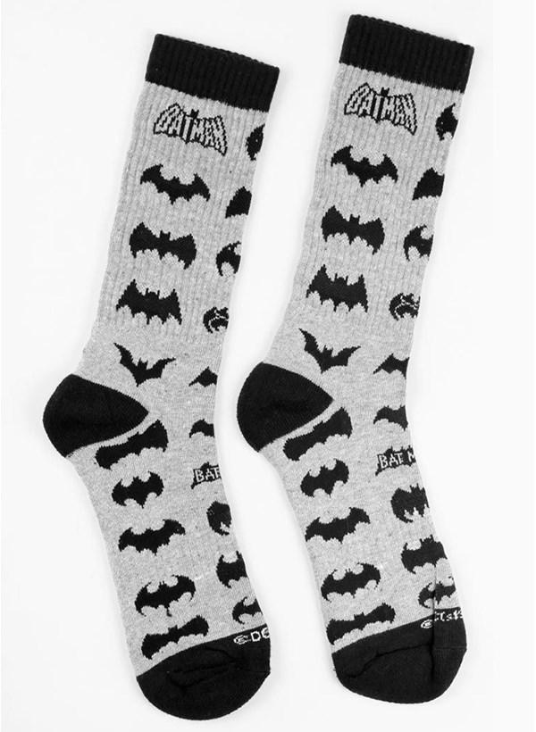 Meia Cano Alto Batman Logos
