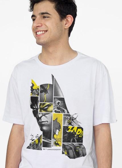 T-Shirt Batman 80 Anos As Faces de Batman