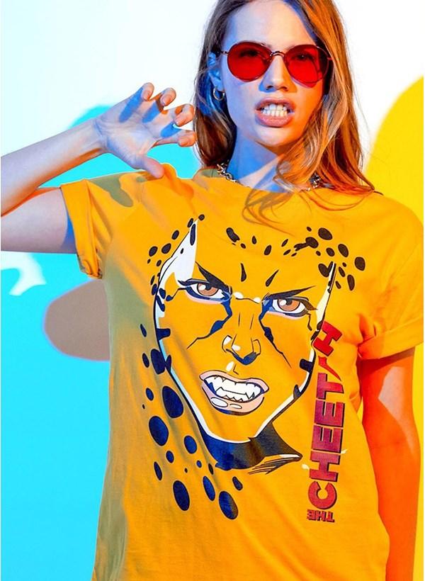 T-shirt Mulher Maravilha 1984 Cheetah Rosto