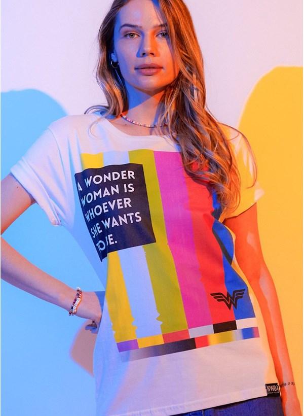 T-shirt Mulher Maravilha 1984 Tecnologia
